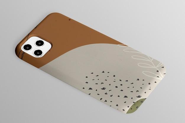 Prezentacja produktu w abstrakcyjny wzór etui na telefon komórkowy