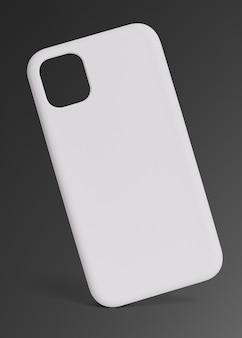 Prezentacja produktu w białym etui na telefon komórkowy