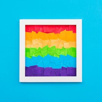 Pride lgbt społeczeństwa dzień kolorowe ramki