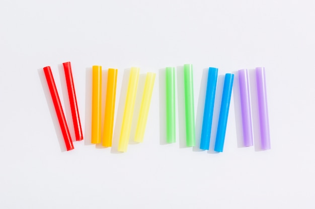 Pride lgbt społeczeństwo dzień kawałki słomek
