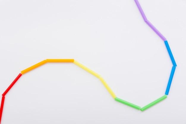 Pride lgbt społeczeństwo dzień kolorowy sznurek