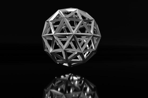 Próbka geometrycznej kuli przypominającej klejnot. piłka o wielu twarzach.