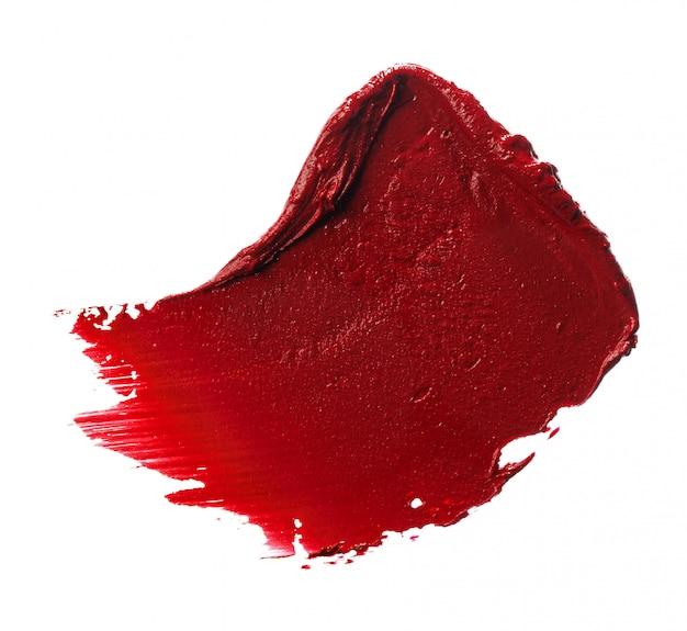 Próbka próbki szminki na białym tle