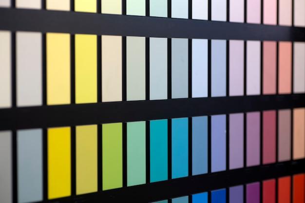Próbki kolorów farby