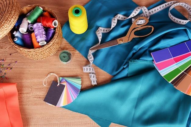 Próbki kolorowej tkaniny