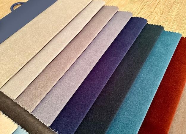 Próbki tkanin do wykończenia medela. tło, tekstura