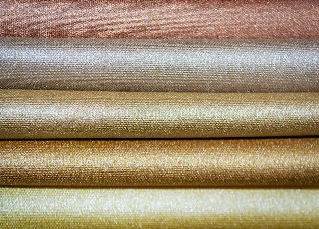 Próbki tkanin kolorowych. tło przemysłu. selektywna ostrość