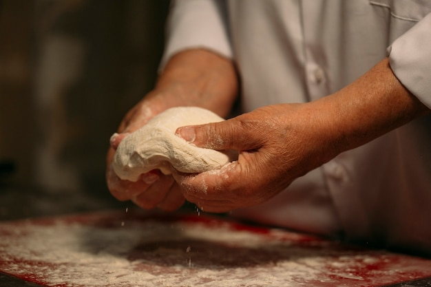 Proces obróbki ciasta