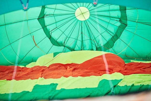 Proces przygotowania balonu do lotu