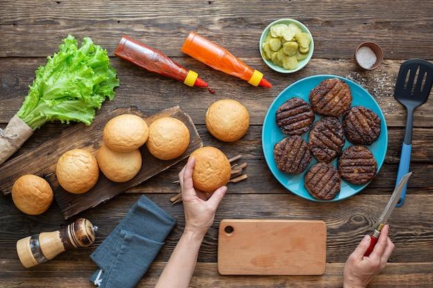 Proces tworzenia soczystego burgera