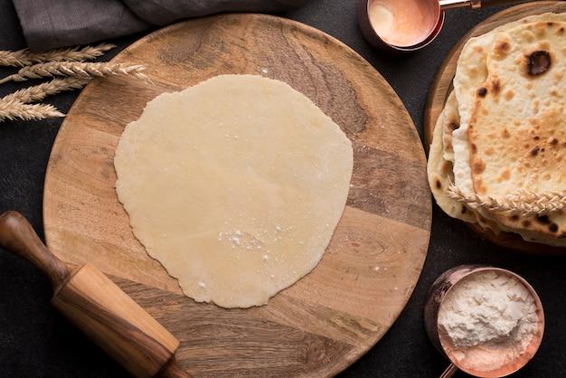 Produkcja Asortymentu Składników Roti Darmowe Zdjęcia