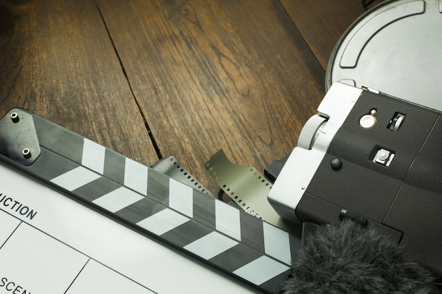 Produkcja filmowa za kulisami płasko leżał obraz w tle.