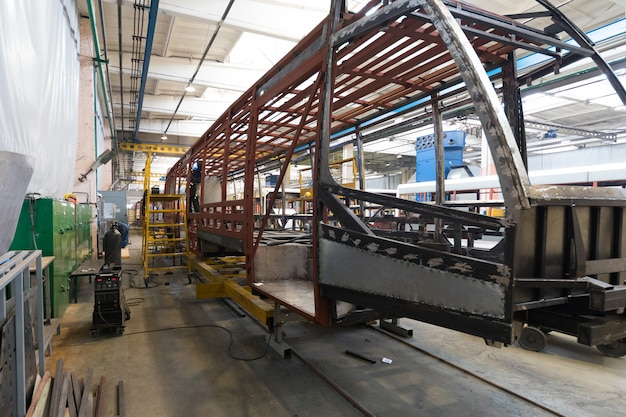 Produkcja produkcji tramwajów
