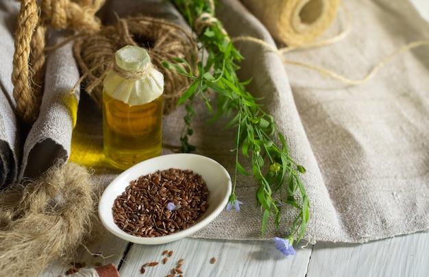 Produkty lniane, tkaniny lniane, liny, nici, olej lniany, siemię lniane i len kwitnący
