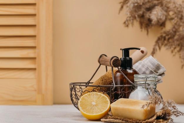 Produkty relaksacyjne w pomieszczeniach, widok z przodu