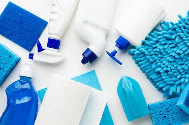 Produkty sanitarne w widoku z góry