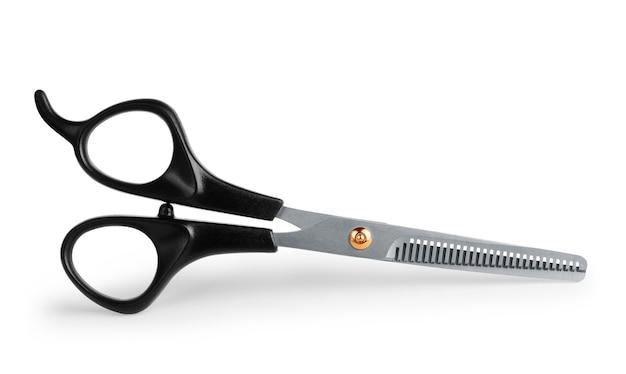 Profesjonalne nożyczki do strzyżenia na białym tle