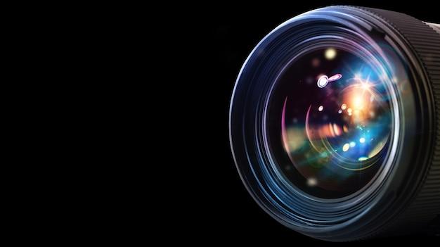 Profesjonalny obiektyw lustrzanki z efektami świetlnymi