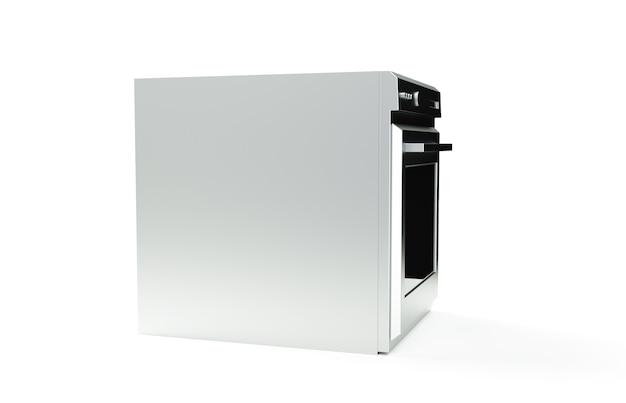 Profesjonalny piekarnik na białym tle renderowania 3d