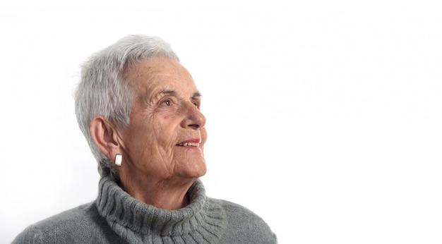 Profilowa starsza kobieta