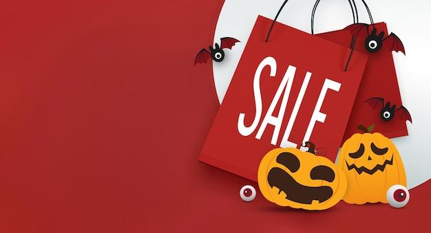 Projekt banera sprzedaży na halloween