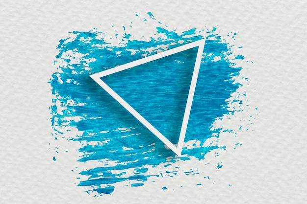 Projekt banera z niebieskim pędzlem