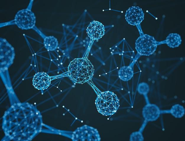 Projekt cząsteczki lub atomu.