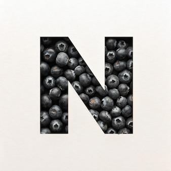 Projekt czcionki, czcionka abstrakcyjna alfabetu z jagodami, realistyczna typografia - n.