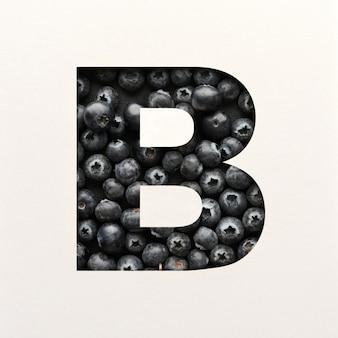 Projekt czcionki, czcionka abstrakcyjna alfabetu z jagodami, realistyczna typografia owoców - b