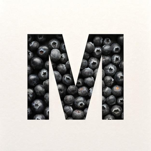 Projekt czcionki, czcionka abstrakcyjna alfabetu z jagodami, realistyczna typografia owoców - m