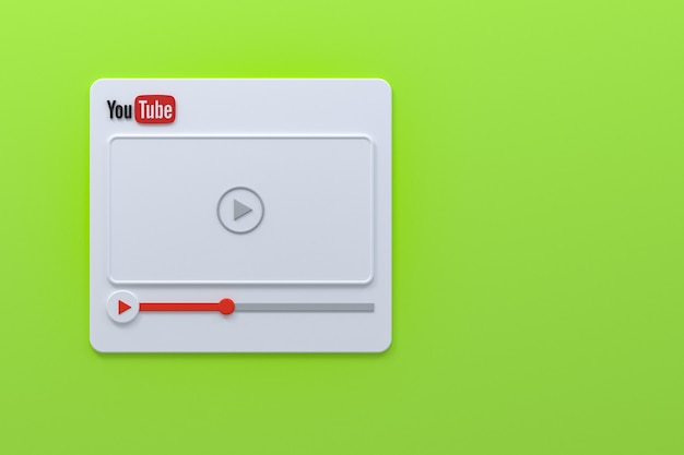 Projekt ekranu odtwarzacza wideo youtube lub interfejs odtwarzacza multimediów wideo