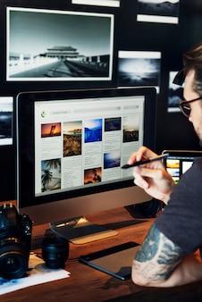 Projekt graficzny zdjęcia computer technology concept