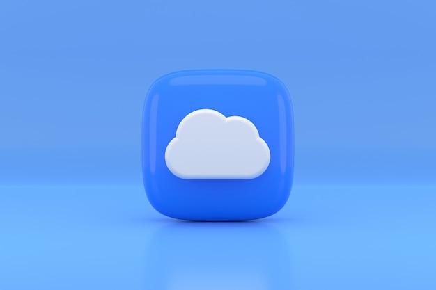 Projekt ikony chmury. renderowanie 3d.