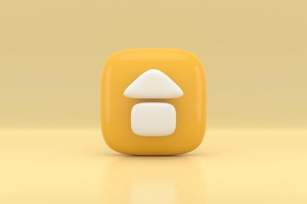 Projekt ikony domu. renderowanie 3d.