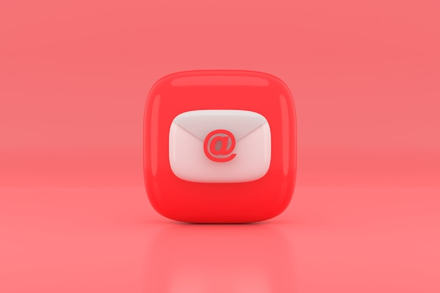 Projekt ikony wiadomości e-mail. renderowanie 3d.