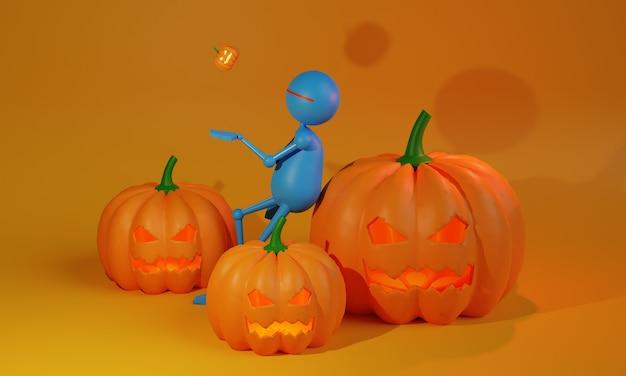 Projekt ilustracji halloween 3d