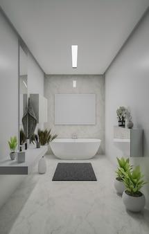 Projekt luksusowej łazienki renderowania 3d