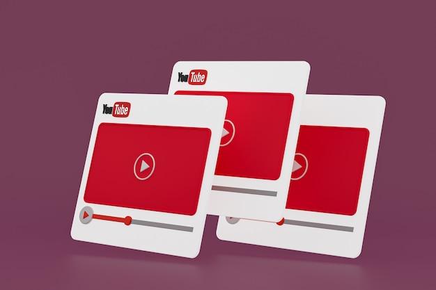 Projekt odtwarzacza wideo na youtube lub interfejs odtwarzacza multimediów wideo