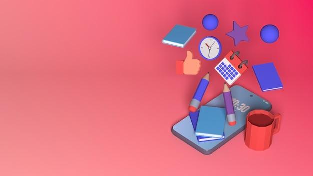 Projekt renderowania 3d do edukacji online z przestrzenią do kopiowania
