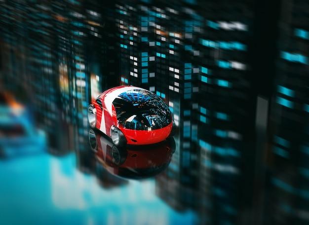 Projekt samochodu - ilustracja 3d