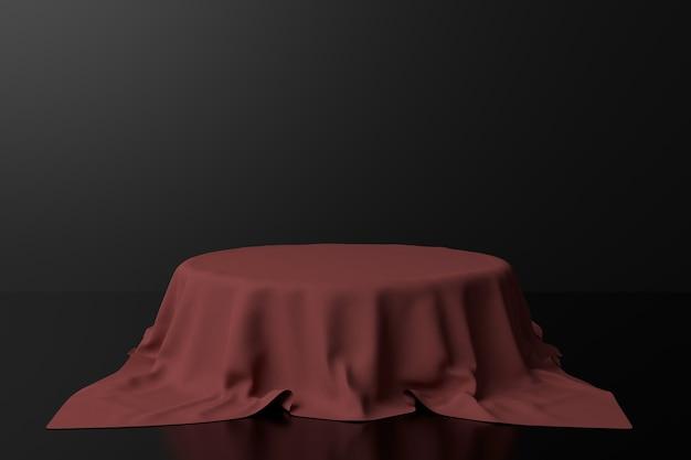 Projekt stojaka z tkaniny. renderowanie 3d.
