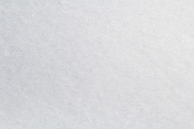 Projekt tekstury śniegu zimą z bliska