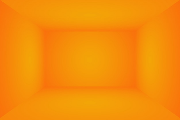 Projekt układu pomarańczowe tło, studio, pokój, szablon sieci web, raport biznesowy z gładkim kolorem gradientu koła.