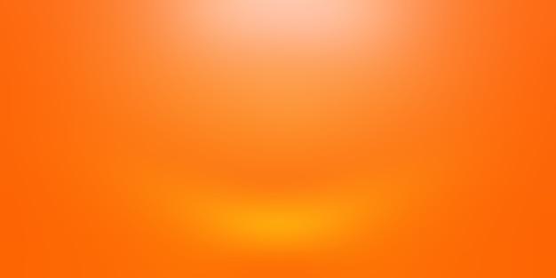 Projekt układu streszczenie tło pomarańczowy, studio, pokój, szablon sieci web, raport biznesowy z kolorem gradientu gładkiego koła.