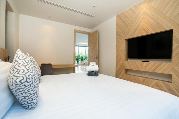 Projekt wnętrz pokoju hotelowego