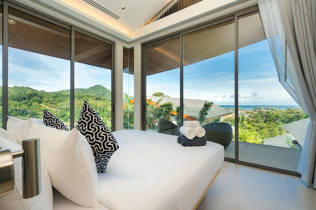 Projekt wnętrz sypialni w hotelu
