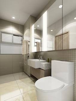 Projekt wnętrza łazienki. renderowanie 3d