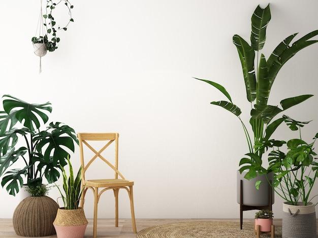 Projekt wnętrza salonu w stylu skandynawskim
