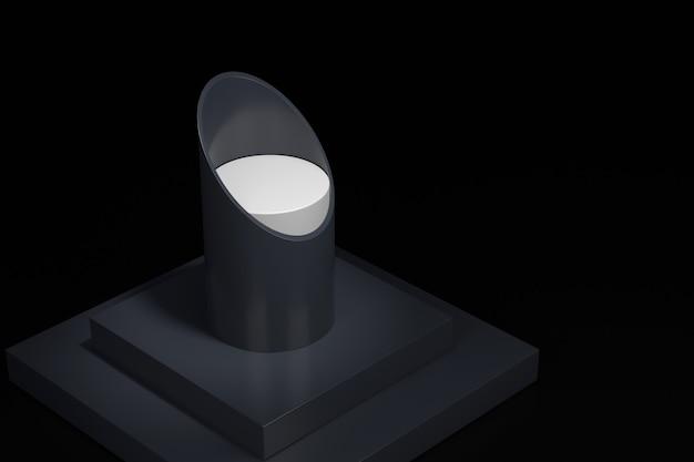 Projekt wyświetlacza biżuterii. renderowanie 3d.