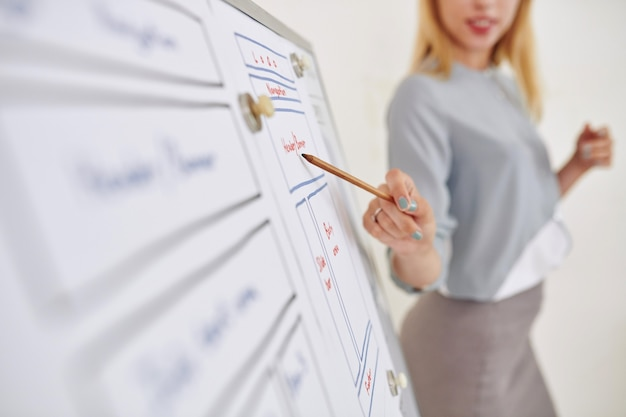 Projektant interfejsu użytkownika pokazujący makietę aplikacji mobilnej